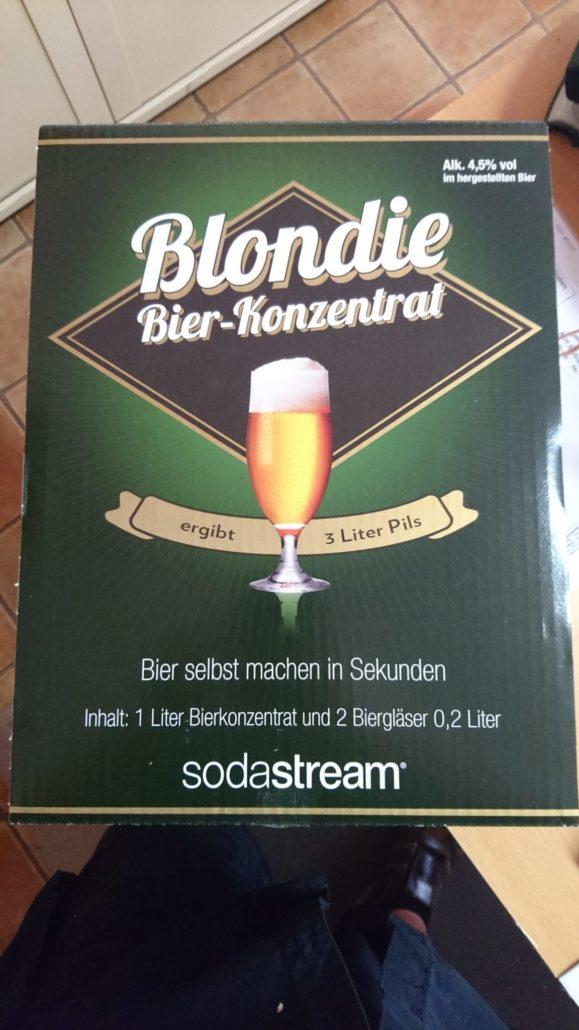 bier selber brauen mit dem sodastream bierset zum selber machen blondie bier konzentrat. Black Bedroom Furniture Sets. Home Design Ideas